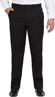 Bracks Men's Black Plain Twill Trouser