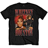 Rock Off Black Whitney Houston 90s Homage Oficial Camiseta para Hombre (Small)