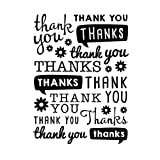 Darice Embossing Folder, Scattered Thank You, 4.25 x 5.75 Inches
