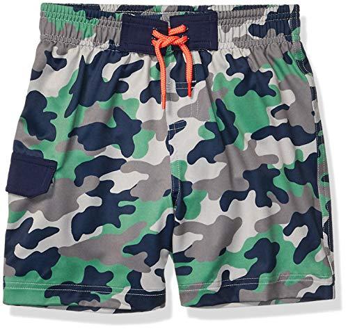 Amazon Brand - Spotted Zebra Boy's Swim Board Shorts, Camo, Medium (8)