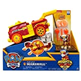 Paw Patrol 6055192 Mighty Pups Flip & Fly Marshall, Rojo