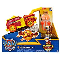 Flip & Fly Vehicles bring all the excitement and adventure of the Paw Patrol to life! Kids can have fun with this 2-in-1 vehicle, transforming it from a cruiser to a jet! Use the built-in disc launcher to help your pup get out of tricky mid-air situa...