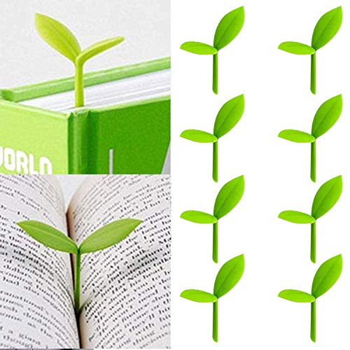 Sprout Little Green Bookmarks Silicone Grass Buds Creative Green Bookmarks, Gifts for Book Lovers...