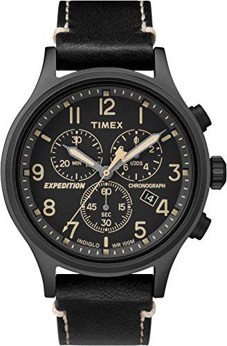 Timex Herren Chronograph Quarz Uhr mit Leder Armband TW4B09100
