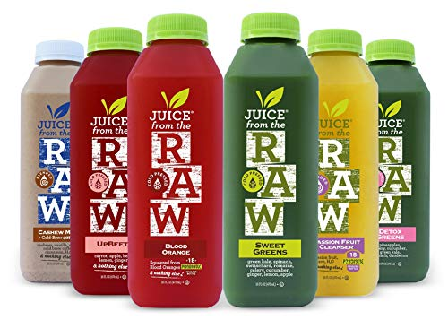 3-Day Cleanse with Cashew Coffee Milk and Probiotics by Juice From the RAW® - Best Juice Cleanse to Lose Weight Quickly / Detoxify Your Body / 100% Raw Cold-Pressed Juices (18 Total 16 oz. Bottles)