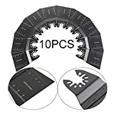 XIXI-Home Accesorios Oscilating Saw Blades Multi Tool Power 10pcs Acero de Alto Carbono