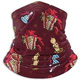 Archiba Scaldacollo Sciarpe Bandana Scaldacollo Regali di Natale Campane Candele Rosso Scuro per Moto Ciclismo Equitazione Esecuzione di Fasce Calde