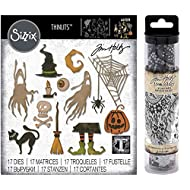 Tim Holtz Sizzix Halloween - Frightful Things 2019 Thinlits and Halloween 2018 Collage Paper - 2 Items
