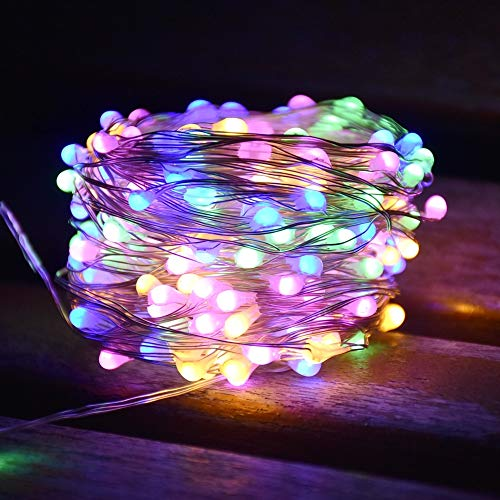 LED Christmas Lights Super Bright Garland Outdoor Light String Decoration for Garden Decoration Light String A2 5m50 LEDs Battery