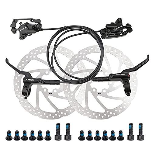 1 par de Frenos de Bicicleta hidráulicos, MTB 800/1400mm, Kit de Freno de presión de Aceite Delantero/Trasero de Bicicleta hidráulica con Rotor de Disco Flotante de 160mm
