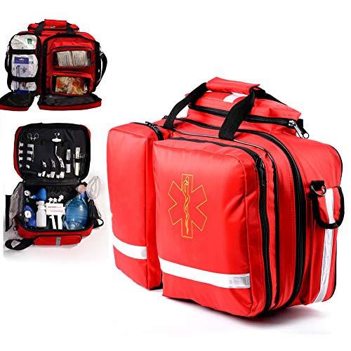 TYQIAO Umfassende Große Erste-Hilfe-Kit, mit Compartments, Outdoor-Erste-Hilfe-Ausrüstung Notarztwagen Feuer Notfall-Sauerstoff-Pack für Heim Wandern Camping, Etc.