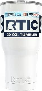 RTIC Tumbler, White 30oz