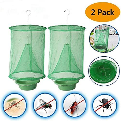 Nobrand 2 paquetes de trampa para moscas al aire libre para caballos, para granjas familiares de interior o exterior, parque, restaurantes, no tóxica y plegable
