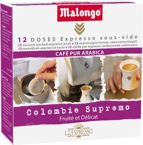 Malongo Café Colombie Supremo 12 doses
