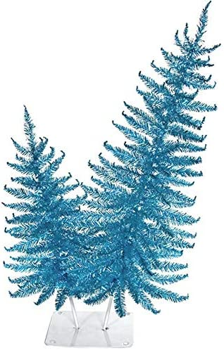 24 El Paso Mall and 36 Inch PVC Artificial Tree 2021new shipping free in Blue Tutone Tinsel Alberta