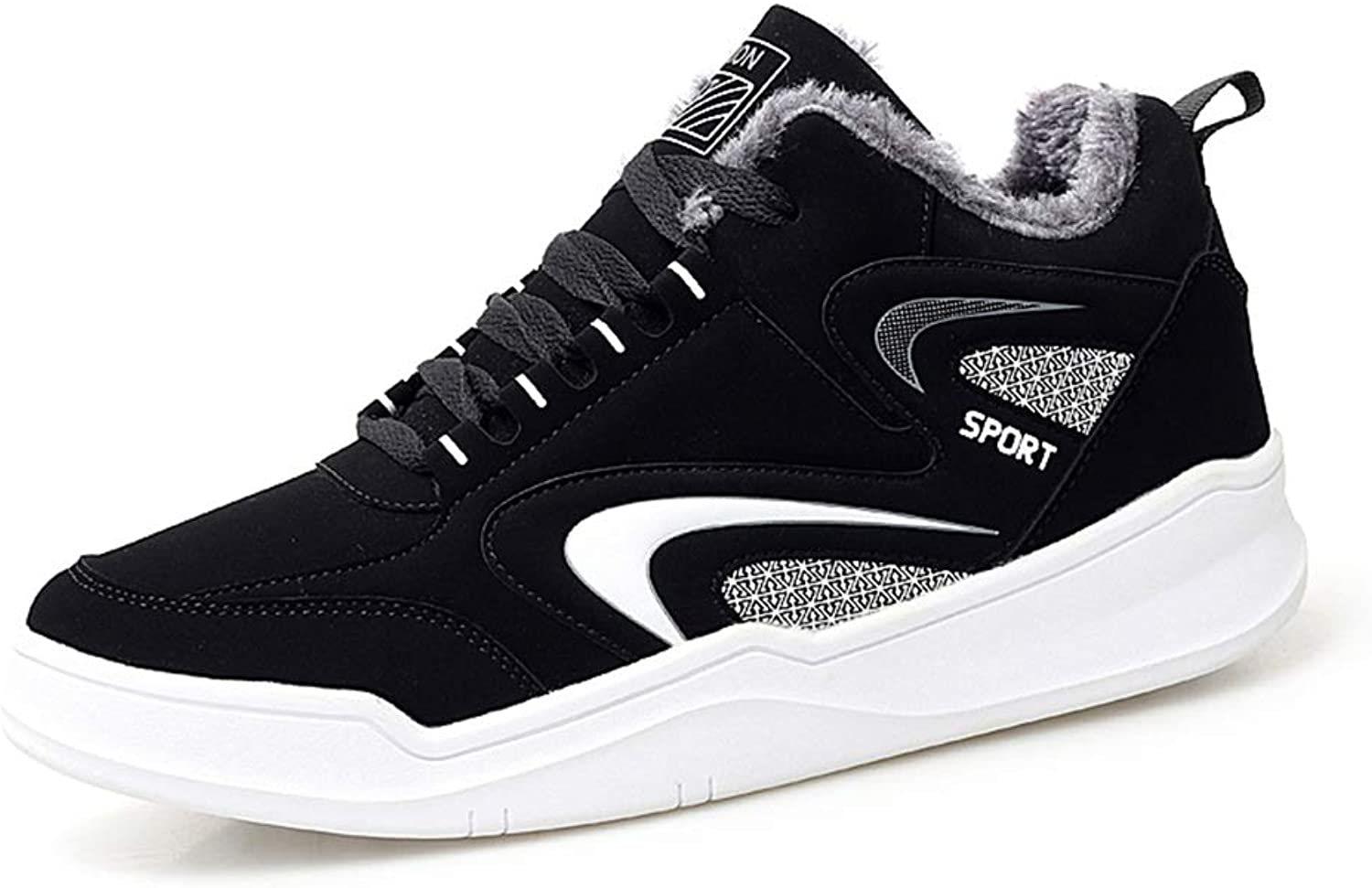 Men's shoes FEIFEI Winter Warm Sports And Leisure Students Trend Board shoes Running shoes (color   01, Size   US9-9.5 EU40 UK7 CN41)