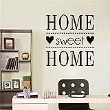 HNXDP Sweet Home Vinyl Wall Stickers Family Quotes Decoración para sala de estar Dormitorio Decoración Decal Mural Wallpaper 58cmX61cm