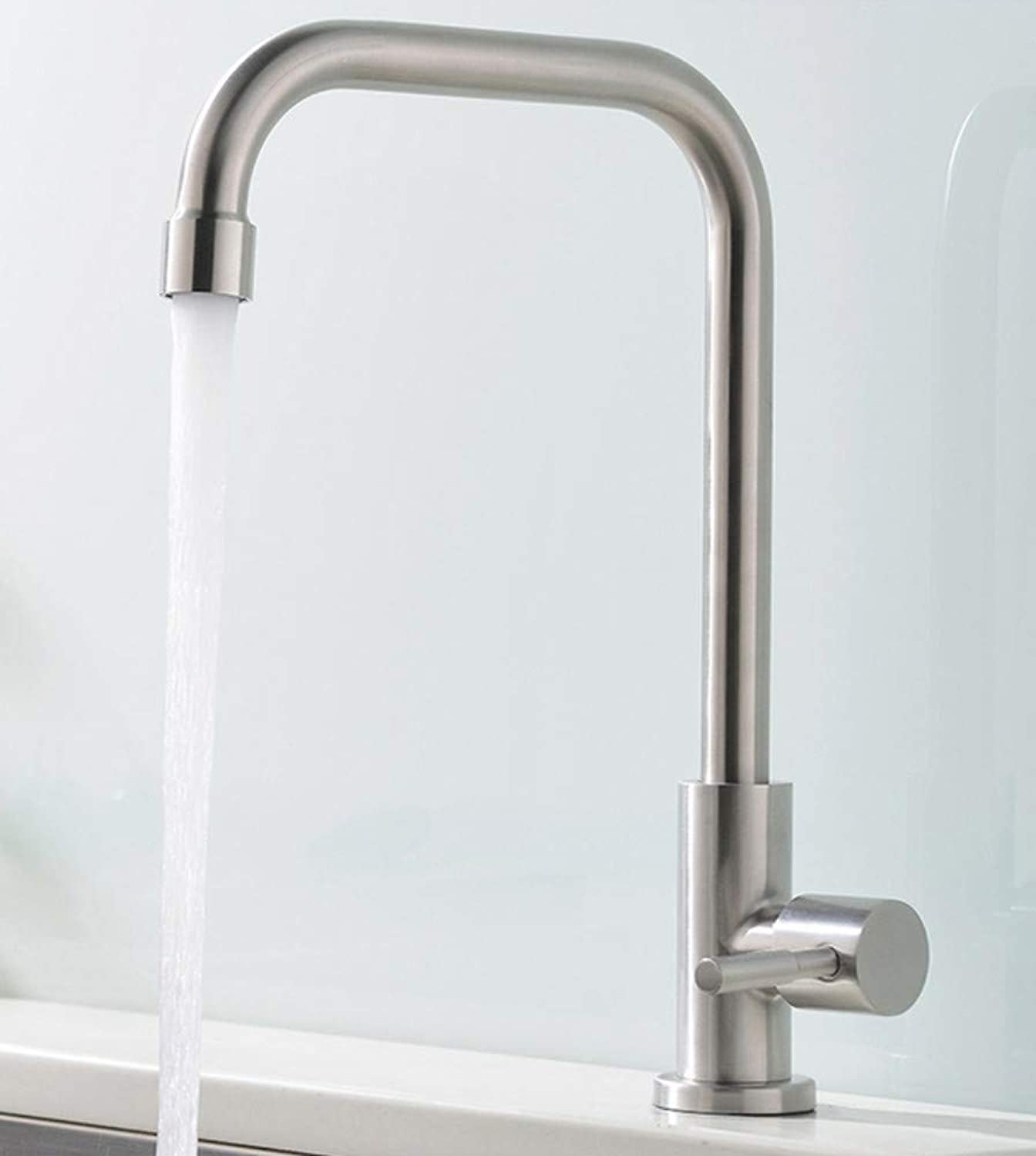 Stainless Steel Kitchen Faucet Sink Sink Single Cold Faucet
