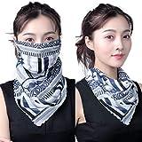 elledk UV カット スカーフ フェイス カバー マスク 付き レディース 紫外線 対策 日焼け 防止 オシャレ アームカバー付き (NE-17)