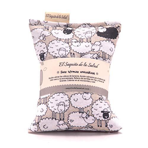 El Saquito de la Salud Saco Térmico de Semillas para bebés que ayuda a aliviar los cólicos del lactante 300 g, Jade (SB-JAD)