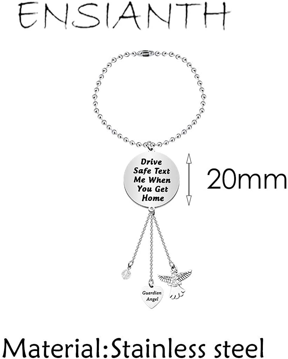 ENSIANTH Driver Gift Guardian Angel Rearview Mirror Guardian Angel Car Charm Guardian Angel Window Hanging Ornament Car Interior Rearview Mirror Pendant