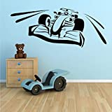 Tianpengyuanshuai Adhesivo de Pared de Vinilo de Carreras calcomanía de habitación Racing Sports Boy Dormitorio decoración de la Pared 177X70cm