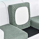 ZGDDPZA Funda de Asiento de Sofá, Funda de Cojín de Sofá, Antideslizante Duradera Protector de Funda Protector de Muebles para Cojines de Sofá Individuales (Color : Green, Size : 1 Seater)