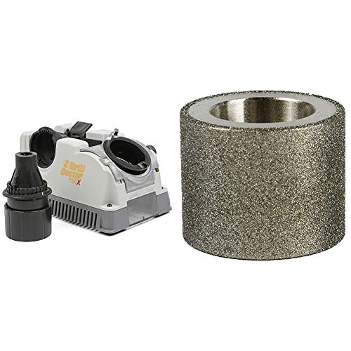 Drill Doctor 750X Drill Bit Sharpener & DA31320GF 180 Grit Diamond Replacement Wheel for 350X, XP, 500X and 750X