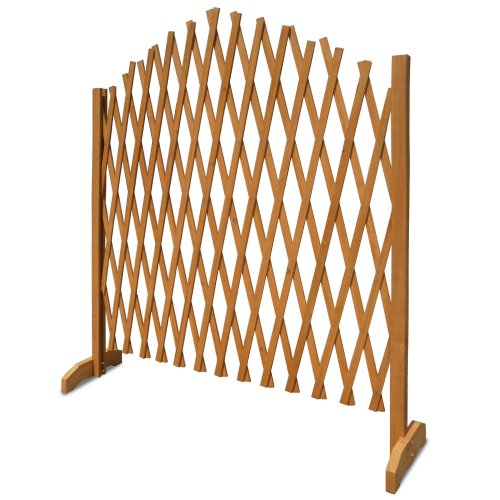 Deuba Expanding Trellis Fence 180x107cm Freestanding Wooden Garden Arched Plant Growing Support Screen (1x)