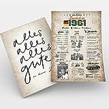 Viaje en el tiempo   Regalo de 60 cumpleaños   Idea de regalo de cumpleaños   60 cumpleaños para hombres y mujeres   Tarjeta de cumpleaños de 60 años   Nacimiento 1961