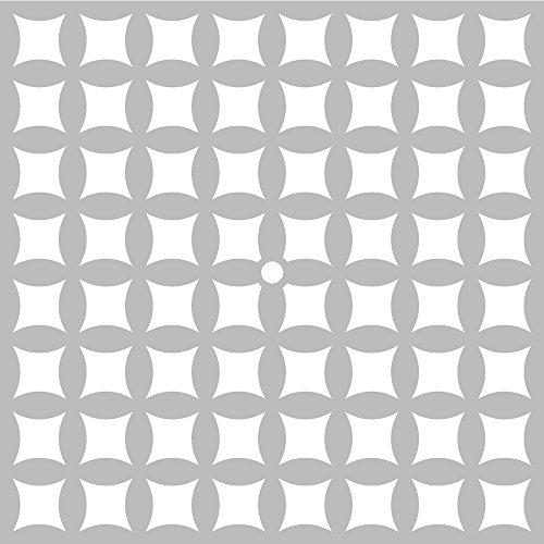 Pochoir courbe 32 x 32 cm, pochoir Artémio, strié courbes
