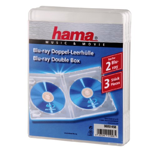 Hama 00051458 étui Disque Optique - étuis disques optiques (Blu-Ray, Transparent, Polypropylene)
