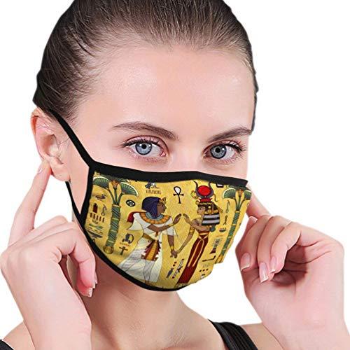 Ha99y Atmungsaktive Mundschutz für Erwachsene Kind ägyptische Mythologieancient Culture Sing und Symbol Mundschutz