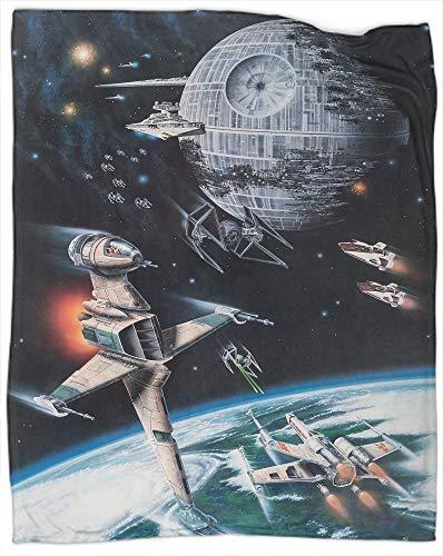 Manta de forro polar de Star Wars, unisex, para niños, niñas, manta ligera para sofá de cama y sala de estar, adecuada para otoño, invierno y primavera, tamaño 101,6 x 127 cm