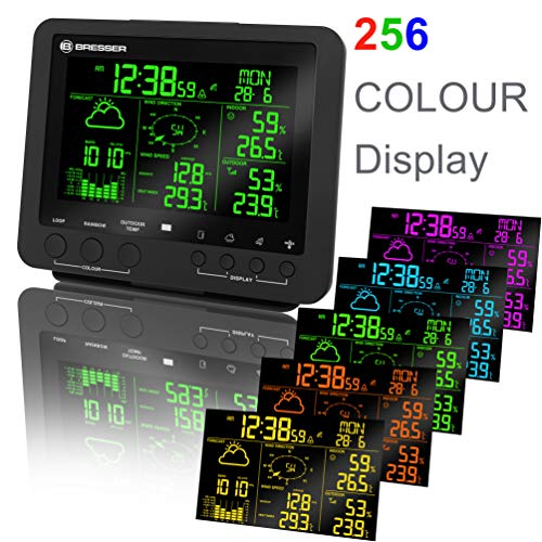 Bresser Weather Station 5-in-1 Weather Center with 256 Colour Display ( With DCF Radio Control Clock / German Model )