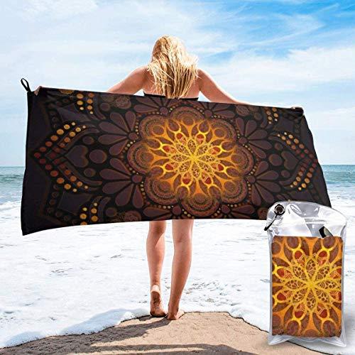 N/A Warm Licht Marokkaanse Lantaarn Mandala Strand Sneldrogende Handdoek Microvezel Yoga Fitness Absorberende Handdoek Outdoor Klimmen Sneldrogende Handdoek