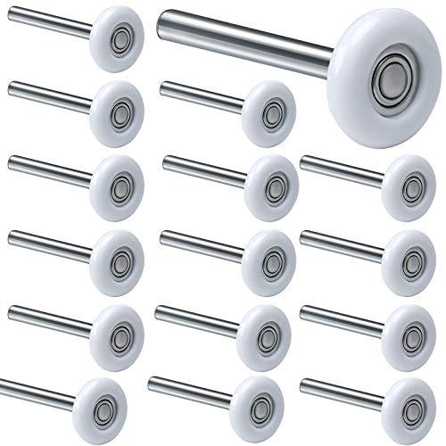 HOZEON 15 Pack 2 Inches Garage Door Rollers, Sealed 6200ZZ Bearing Nylon Garage Door Roller, Quiet...