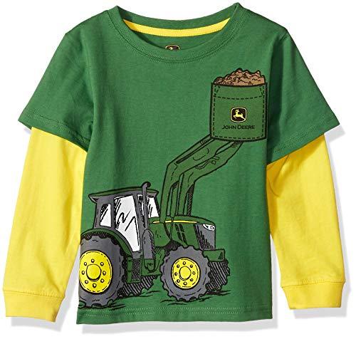 John Deere Jungen 2 for Tee T-Shirt, grün, 4 Jahre
