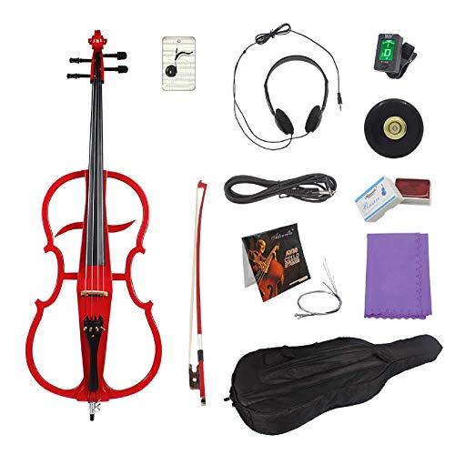Violín 4/4 tamaño completo Violonchelo eléctrico para Principiantes Principiantes (tamaño: tamaño libre;...