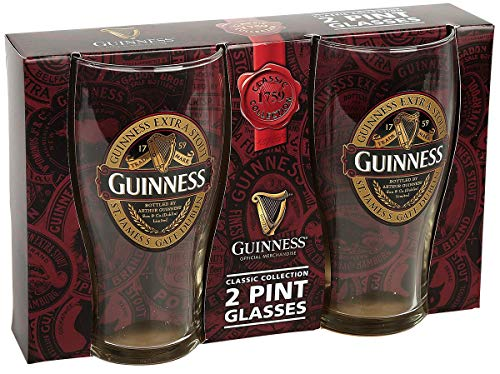 Guinness Ruby Red Vaso de cerveza transparente, vidrio,