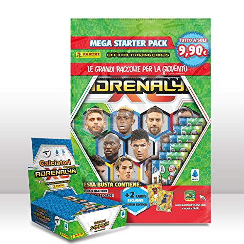 Calciatori Adrenalyn Xl 2020-2021 Super Starter Pack [BOX DA 24 Bustine Primo tempo - 6 Bustine - 2 card Limited Edition - raccoglitore - guida ufficiale - Gameboard - Checklist]