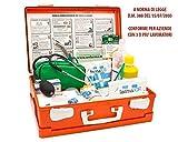 FARMA 2 cassetta medica primo pronto soccorso conforme DM 388 allegato 1 per aziende con 3 o più lavoratori completa di cartello primo soccorso