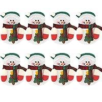 Realizzato in tessuto non tessuto, resistente e riutilizzabile, buona scelta per le stoviglie di Natale Ogni borsa può contenere una forchetta, un coltello e un cucchiaio, una buona decorazione per le stoviglie di Natale Dimensioni: circa 13 x 10 cm,...