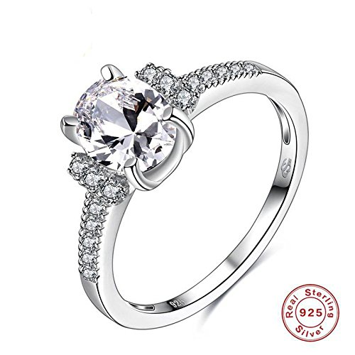 Anti-allergie Mode S925 Sterling Zilver Solitaire Ring Sterling Zilver Sieraden Accessoires