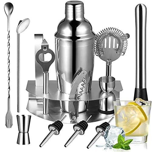 Cocktail Bar Set Kit de Cocteleria RabbitStorm 14 Piezas Utensilios de Bar, Conjuntos para el Bar Coctelera de Cóctel Accesorios de Acero Inoxidable 750ml. Conjunto Ideal para Fabricantes de Bebidas Profesionales y Aficionados por Igual