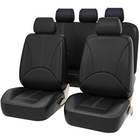 Back Seat Black Scratch proof Four Seasons Bottoms Protectors,Compatible with 90/% Vehicles PU Leather Protectors Front Sedan SUV Truck Van MPV Goolsky 9Pcs Luxury Car Seat Covers