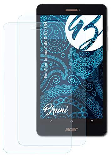 Bruni Schutzfolie kompatibel mit Acer Iconia Talk S A1-734 Folie, glasklare Bildschirmschutzfolie (2X)