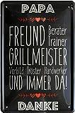 Papa - Freund, Grillmeister, Tröster, Vorbild und Immer da 20x30 Blechschild 514