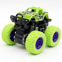 グリーン子供車おもちゃモンスタートラック慣性 SUV 摩擦電源車の赤ちゃんボーイズスーパー車炎トラック子供のギフトのおもちゃ