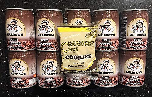 Mr. Brown Coffee Original 10 pack Free Chamorro Chip Cookies (10 X 240ml cans)